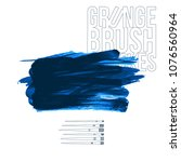 blue brush stroke and texture.... | Shutterstock .eps vector #1076560964