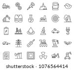 thin line icon set   gears... | Shutterstock .eps vector #1076564414