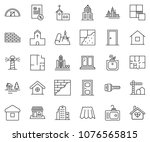 thin line icon set  ... | Shutterstock .eps vector #1076565815