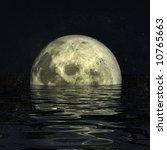 3d rendering image of the moon | Shutterstock . vector #10765663