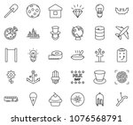 thin line icon set   diamond... | Shutterstock .eps vector #1076568791