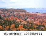 cloudy day in bryce canyon... | Shutterstock . vector #1076569511