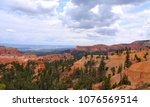 cloudy day in bryce canyon... | Shutterstock . vector #1076569514