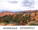 cloudy day in bryce canyon... | Shutterstock . vector #1076569517