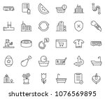 thin line icon set   check... | Shutterstock .eps vector #1076569895