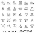 thin line icon set   bank... | Shutterstock .eps vector #1076570069
