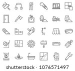thin line icon set   cutter... | Shutterstock .eps vector #1076571497