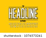 vector of modern bold font and... | Shutterstock .eps vector #1076573261