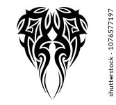 tribal pattern tattoo vector... | Shutterstock .eps vector #1076577197
