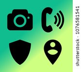vector icon set about mobile... | Shutterstock .eps vector #1076581541