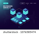 cloud data storage concept with ... | Shutterstock .eps vector #1076585474