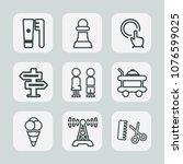 premium set of outline icons....   Shutterstock .eps vector #1076599025