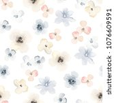 seamless floral pattern with... | Shutterstock .eps vector #1076609591