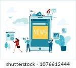online news vector illustration....   Shutterstock .eps vector #1076612444