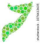 somalia map collage of random... | Shutterstock .eps vector #1076613635