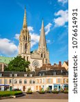 chartres  france   may 21  2017 ... | Shutterstock . vector #1076614931