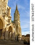 chartres  france   may 21  2017 ... | Shutterstock . vector #1076614937