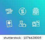 tourism icon set and travel...