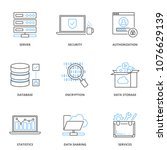 cloud computing and data... | Shutterstock .eps vector #1076629139