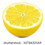 lemon half isolated on white... | Shutterstock . vector #1076632169