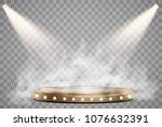 round podium  pedestal or... | Shutterstock .eps vector #1076632391