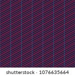 isometric grid. vector seamless ... | Shutterstock .eps vector #1076635664