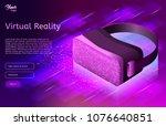 isometric virtual reality... | Shutterstock .eps vector #1076640851