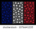 france flag mosaic composed of... | Shutterstock .eps vector #1076641235