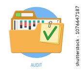 success audit concept. open... | Shutterstock .eps vector #1076647187