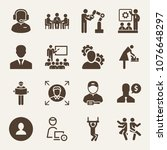 people filled vector icon set... | Shutterstock .eps vector #1076648297