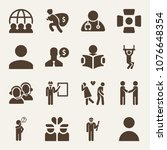 people filled vector icon set...   Shutterstock .eps vector #1076648354