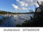 many moored yachts and boats in ... | Shutterstock . vector #1076650235