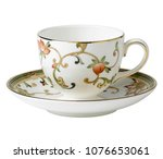 antique teacup  ceramic cup | Shutterstock . vector #1076653061
