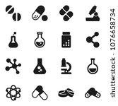 flat vector icon set   atom... | Shutterstock .eps vector #1076658734