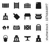 flat vector icon set  ... | Shutterstock .eps vector #1076666897