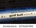 golf ball golf ball concept. | Shutterstock . vector #1076669384