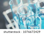 glass laboratory chemical test...   Shutterstock . vector #1076672429