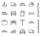 flat vector icon set   sail... | Shutterstock .eps vector #1076672744