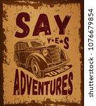 vintage motivating poster in... | Shutterstock .eps vector #1076679854