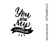 hand drawn lettering quote you...   Shutterstock .eps vector #1076680115