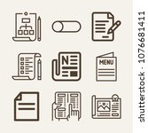 paper outline vector icon set...