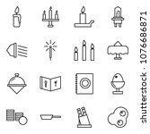 flat vector icon set   candle... | Shutterstock .eps vector #1076686871