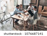 close the deal. top view of... | Shutterstock . vector #1076687141