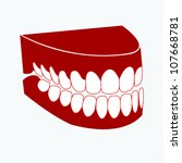 artificial denture | Shutterstock .eps vector #107668781