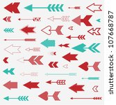 vintage arrows set | Shutterstock .eps vector #107668787