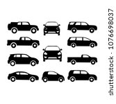 classic cars. set of car... | Shutterstock .eps vector #1076698037