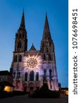 chartres  france   may 21  2017 ... | Shutterstock . vector #1076698451