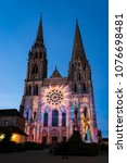 chartres  france   may 21  2017 ... | Shutterstock . vector #1076698481