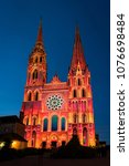 chartres  france   may 21  2017 ... | Shutterstock . vector #1076698484