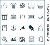 commerce icons set with like ... | Shutterstock .eps vector #1076702417